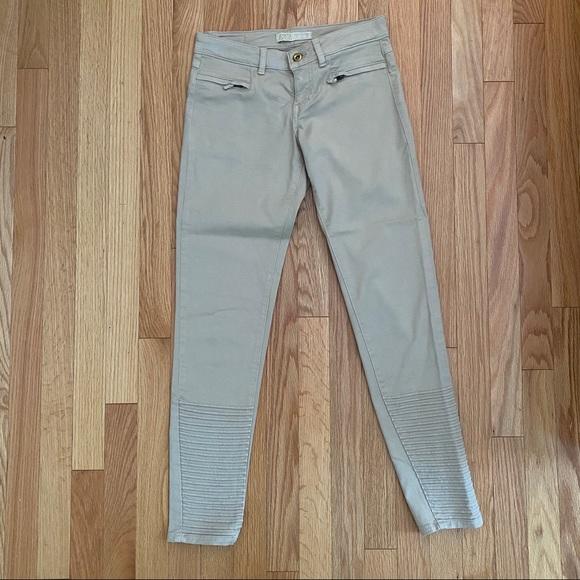 Zara Basic Beige Military Style Skinny Jeans